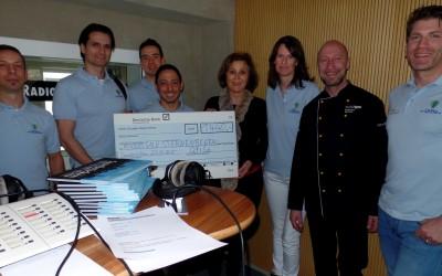 Spendenübergabe an RADIO SALÜ Sternenregen mit Uwe Zimmer und Charlotte Britz