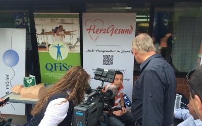 """Mike Schommer von QFiSa: Gefragter Mann beim 1. """"HerzGesund""""-Vereins-Aktionstag in Wallerfangen"""